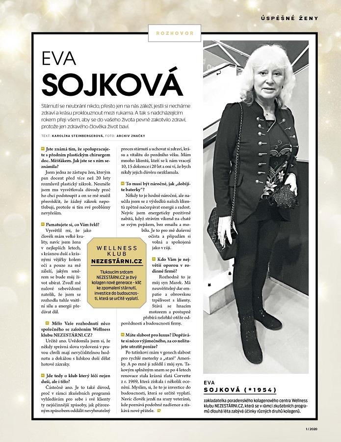 rozhovorÚSPĚŠNÉ ŽENY Eva Sojková - TOP CLASS 1/2020