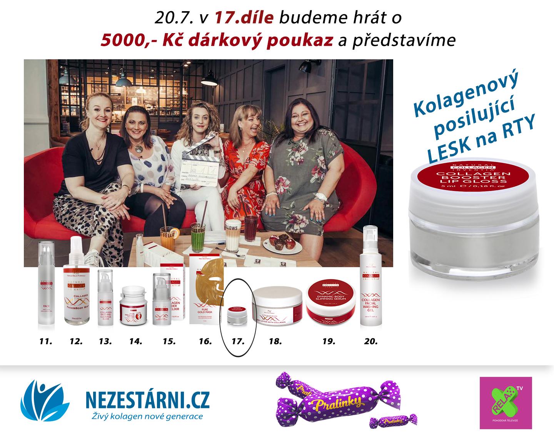 Živý kolagen - POŠTOVNÉ ZDARMA + velká letní soutěž o 5.000 Kč s NEZESTÁRNI.CZ a TV RELAX - 17.díl