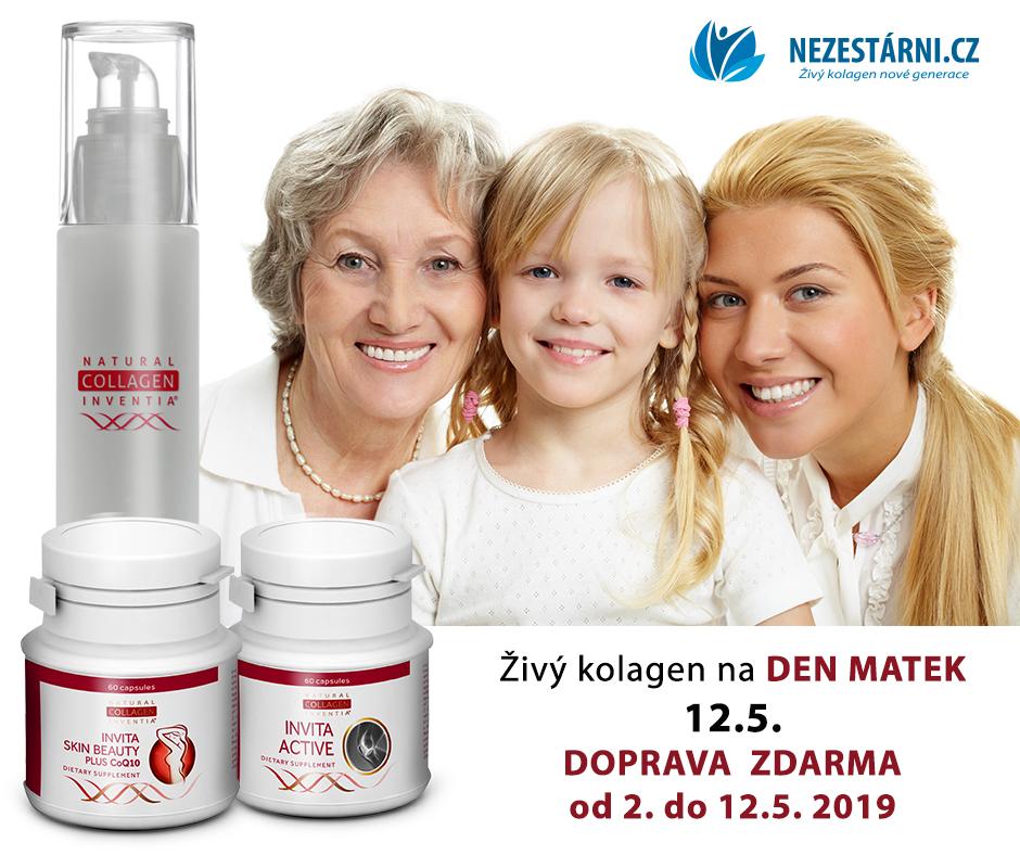 Živý kolagen - poštovné ZDARMA ke Dni matek + takhle hubneme