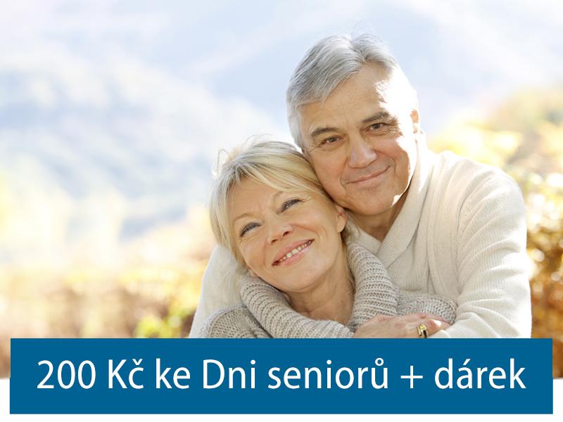 200 Kč ke Dni seniorů do 17. října + dárek